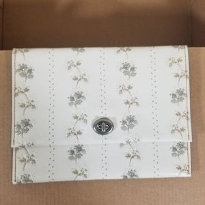 Coach Glovetanned Leather Floral Pouch